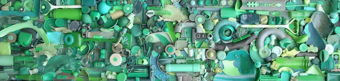 Green - Spurn found object assemblage, 8ft x 2ft